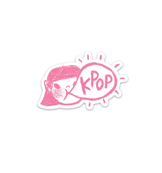 K-Pop Bubble Gum Vinyl Sticker
