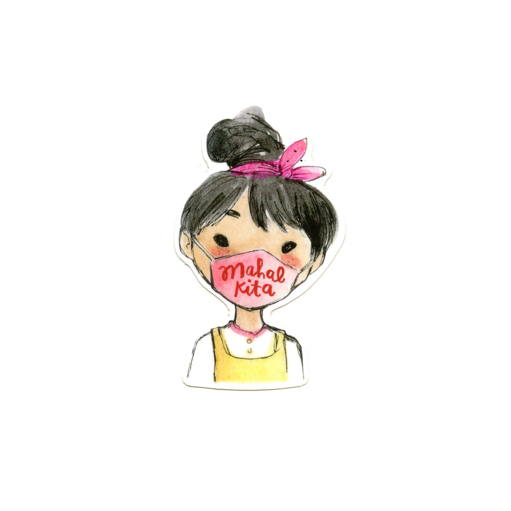 Mahal Kita Mask Girl Sticker