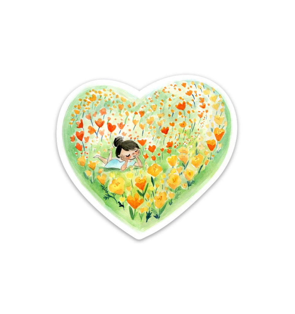 Poppy Love Vinyl Sticker