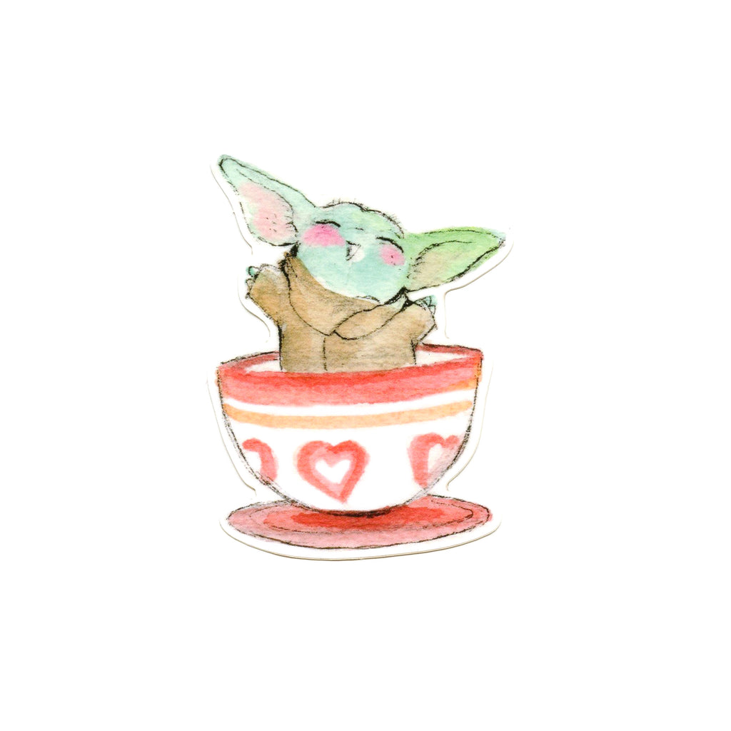 The Tea Cup Child Sticker