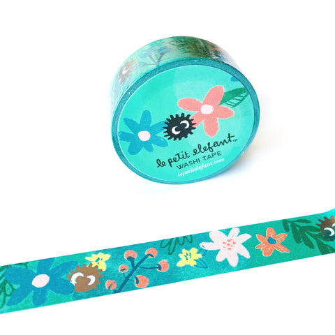 Soot Balls and Flowers Foil Washi Tape