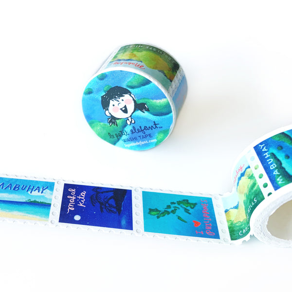Mabuhay Travels Stamp Washi Tape