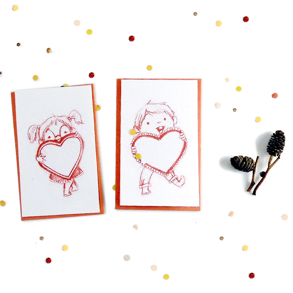 Big Love Mini Cards - Set of 4