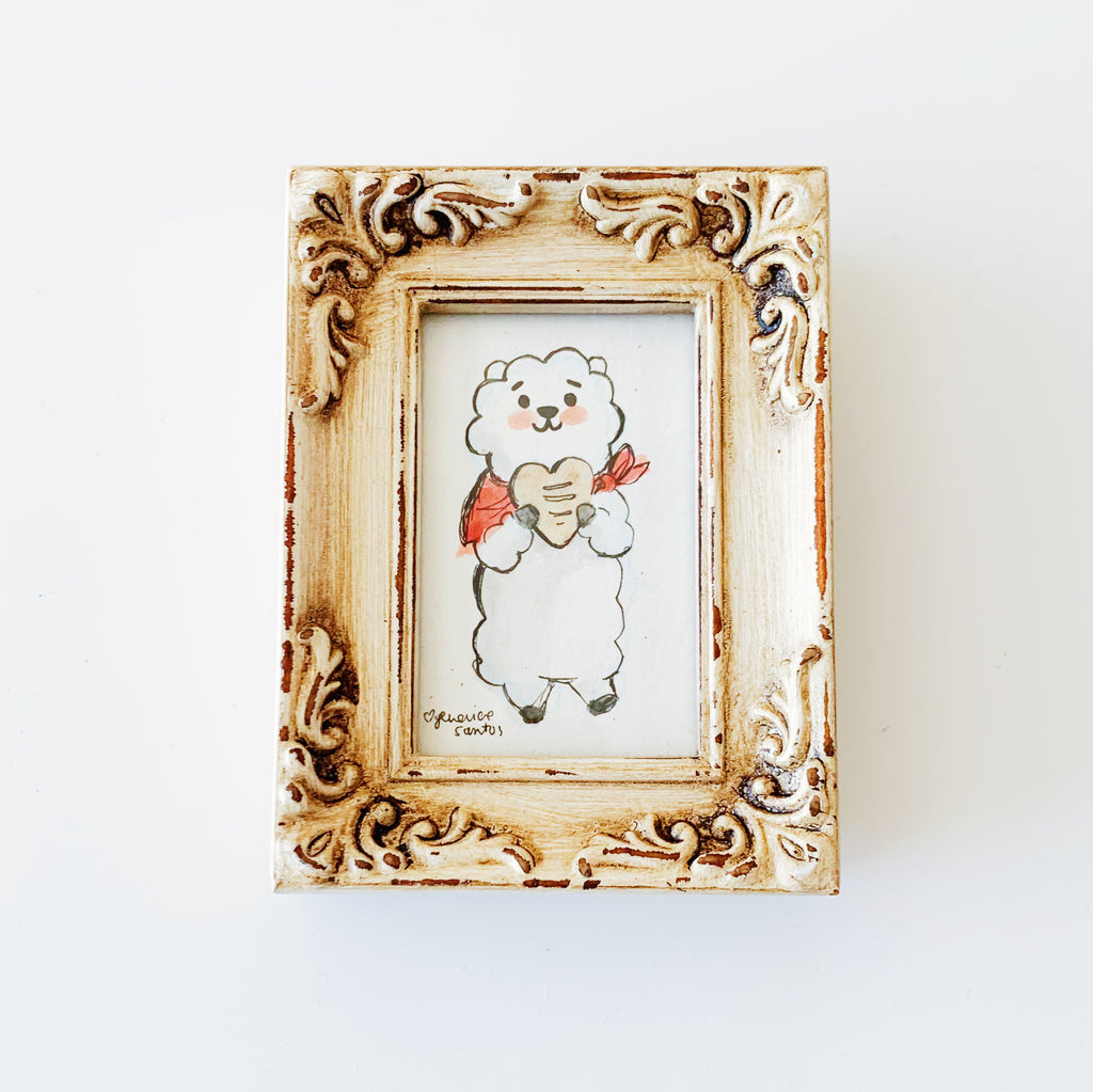 RJ Loves Bread Framed Mini Original Art