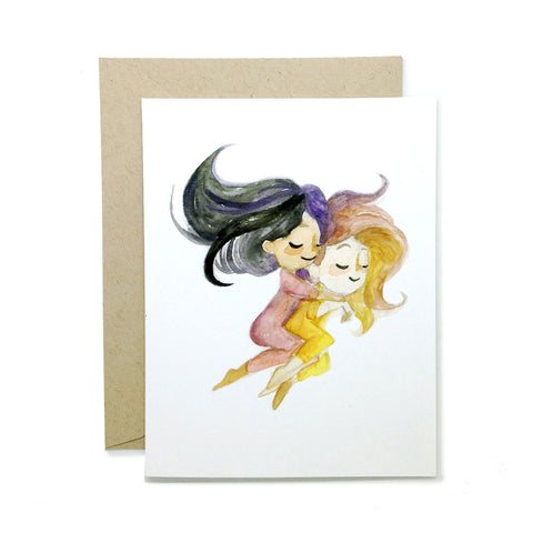 Spooning Ladies Greeting Card