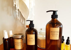 Body oil and Face oil refills at River Organics, Wilmington NC