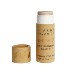 Highlighting makeup stick by river organics in paper tube