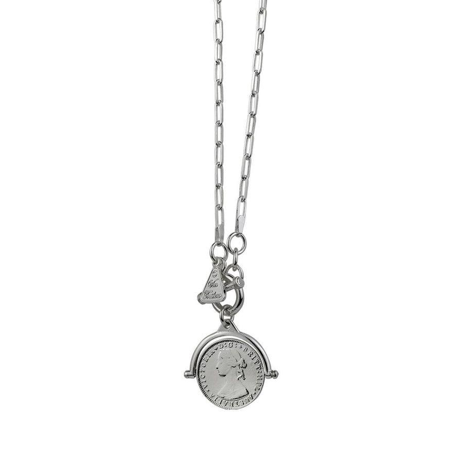 Von Treskow coin flip necklace