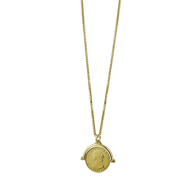 Von Treskow flip coin necklace