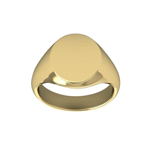 Duo 9kt Gold Signet ring