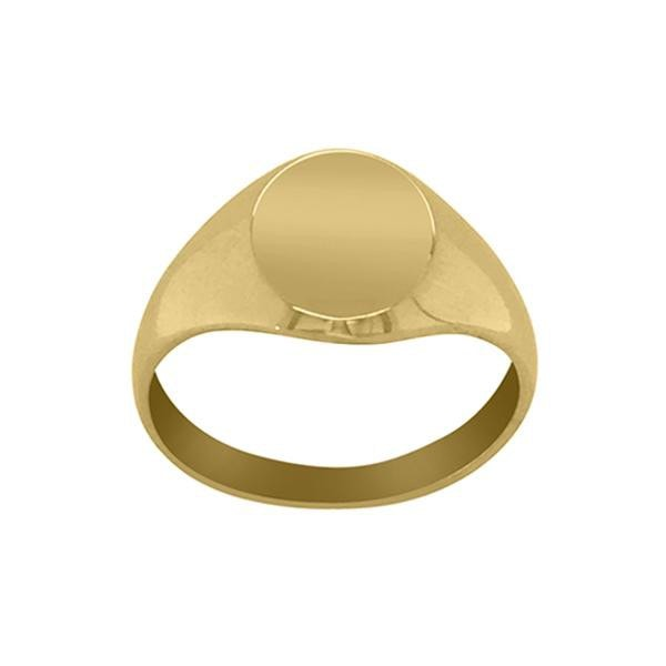 Duo 9kt Gold signet pinky ring