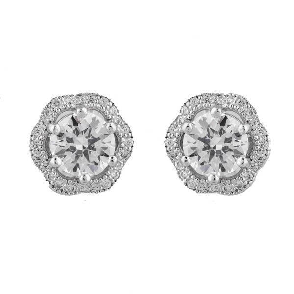 Sybella Flower Micro Pave Earrings