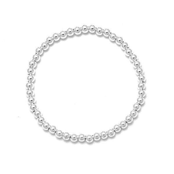 Duo Jewellery Silver Ball 4Mm Bracelet