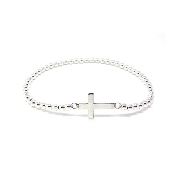 Duo Jewellery Silver Cross Charm Bracelet
