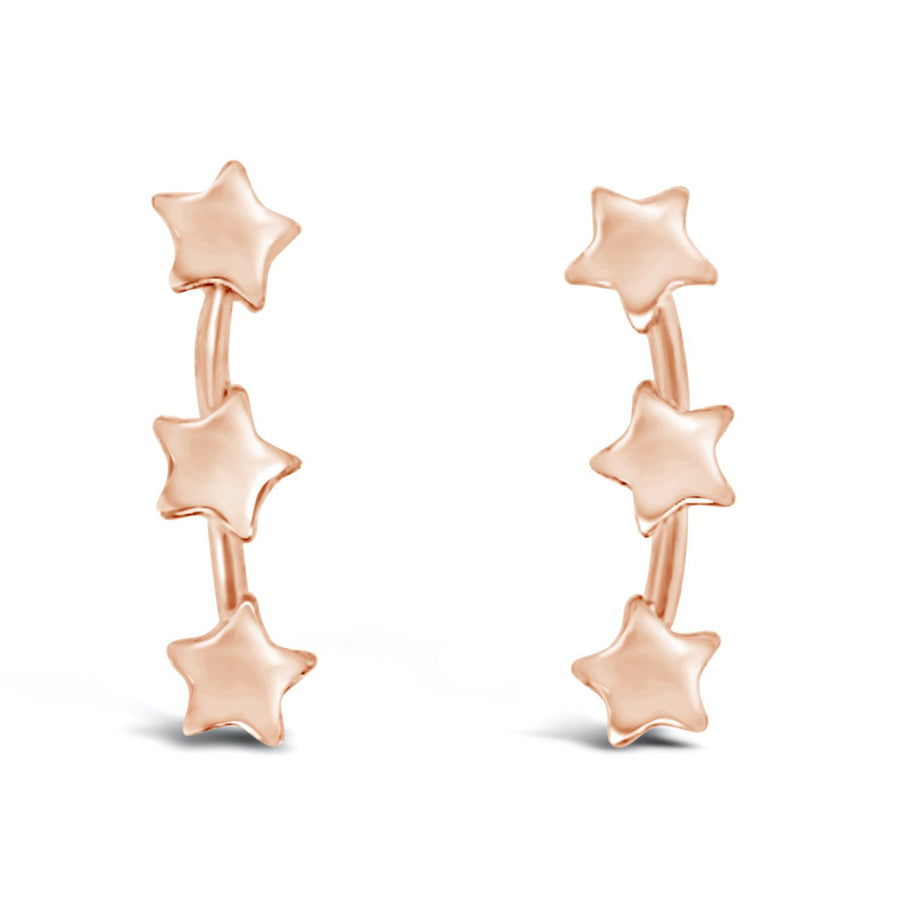 Duo you are a star Earrings rose gold