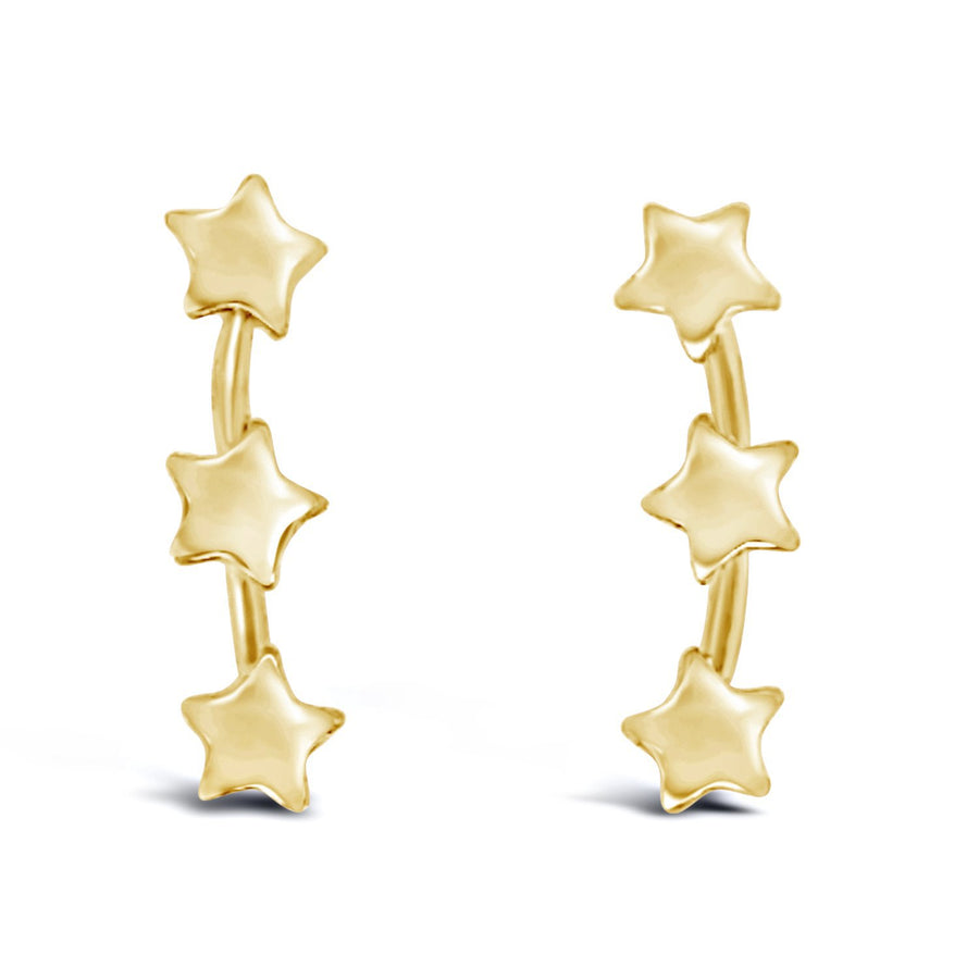 Duo you are a star Earrings gold