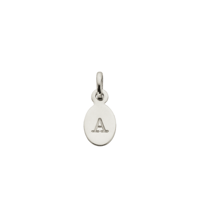 Kirstin Ask silver oval initial charm A-Z