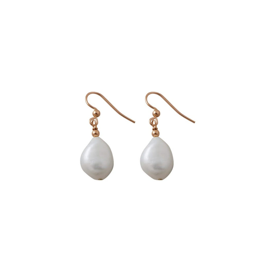 Von Treskow rose gold pearls earrrings