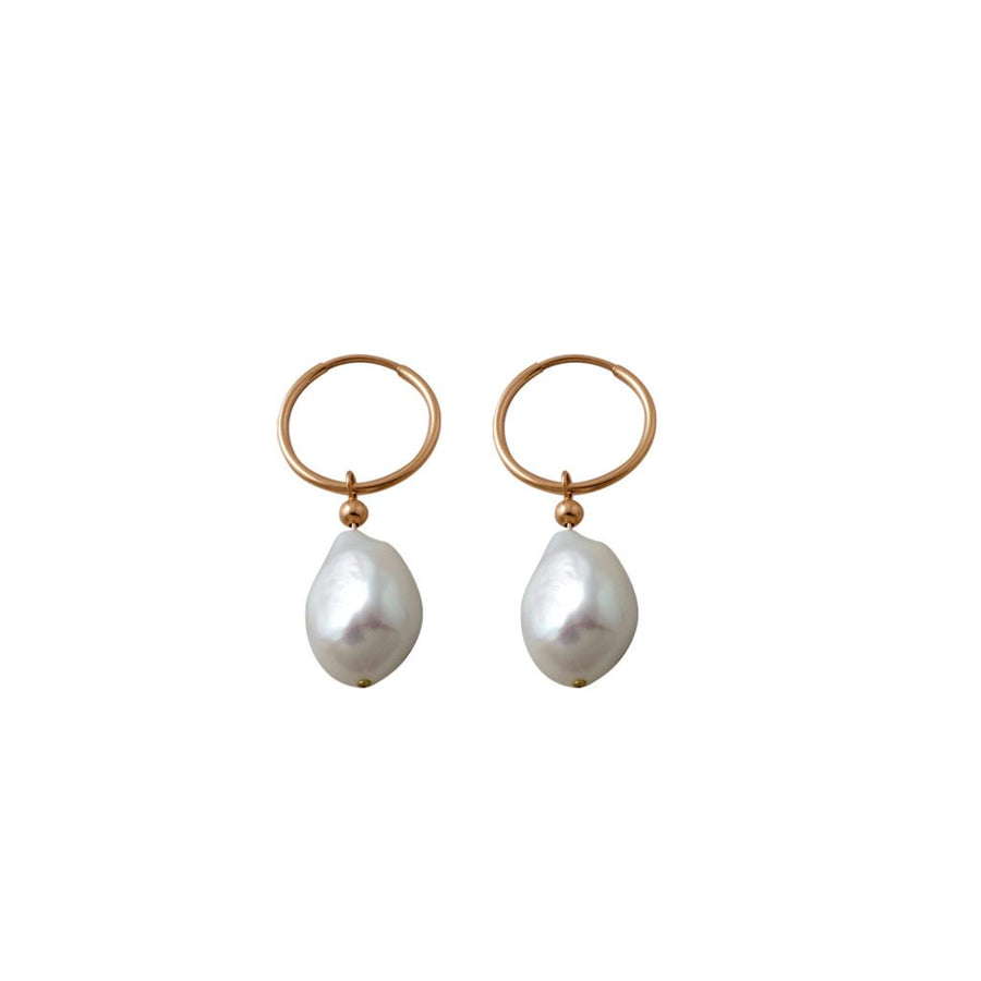 Von Treskow rose gold pearls earrings