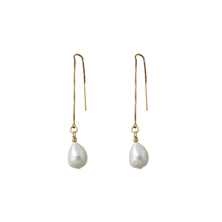 Von Treskow gold pearl earrings