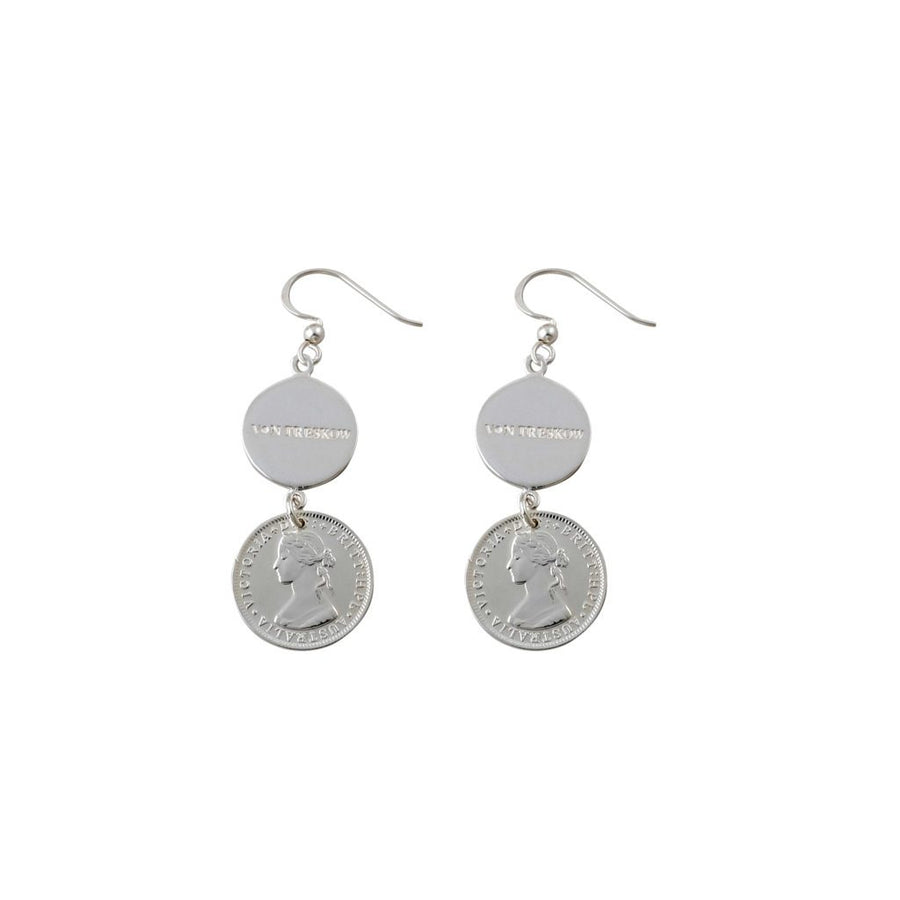 Von Treskow Plate and token earrings