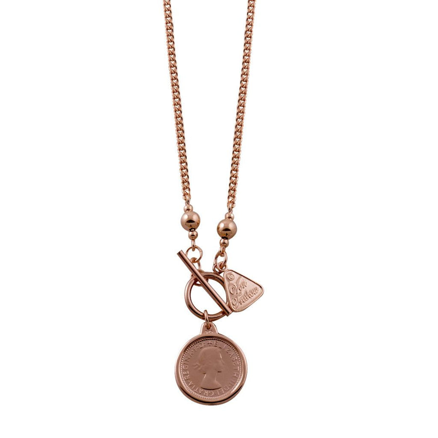 Von Treskow rose gold sixpence necklace