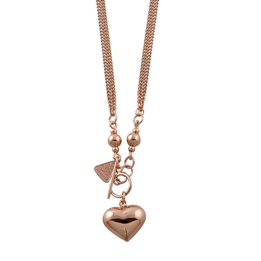 Von Treskow rose gold small puffy heart necklace