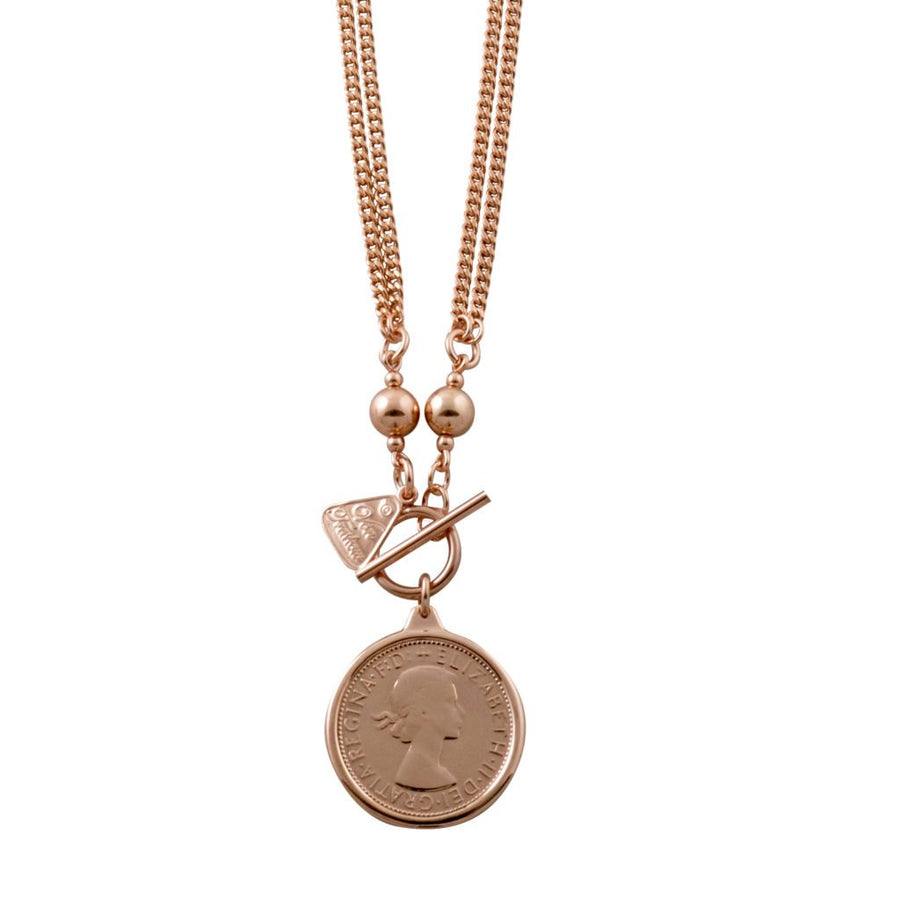 Von Treskow rose gold florin coin necklace