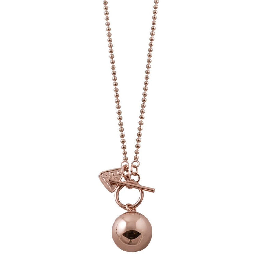 Von Treskow rose gold medium chime ball necklace