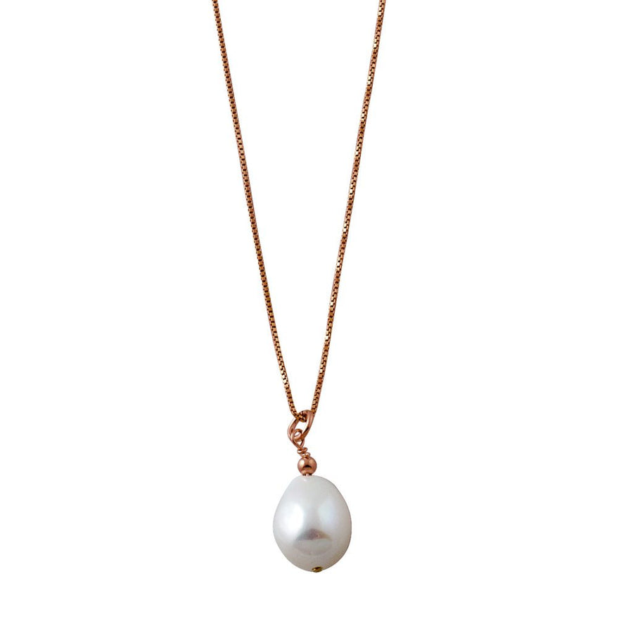 Von Treskow rose gold pearl necklace