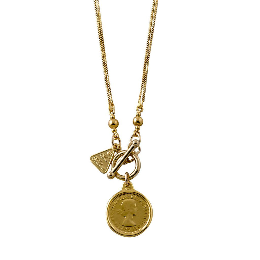 Von Treskow gold threepence necklace