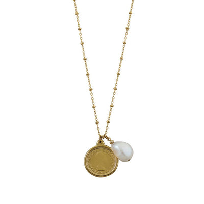 Von Treskow  sixpence and pearl necklace