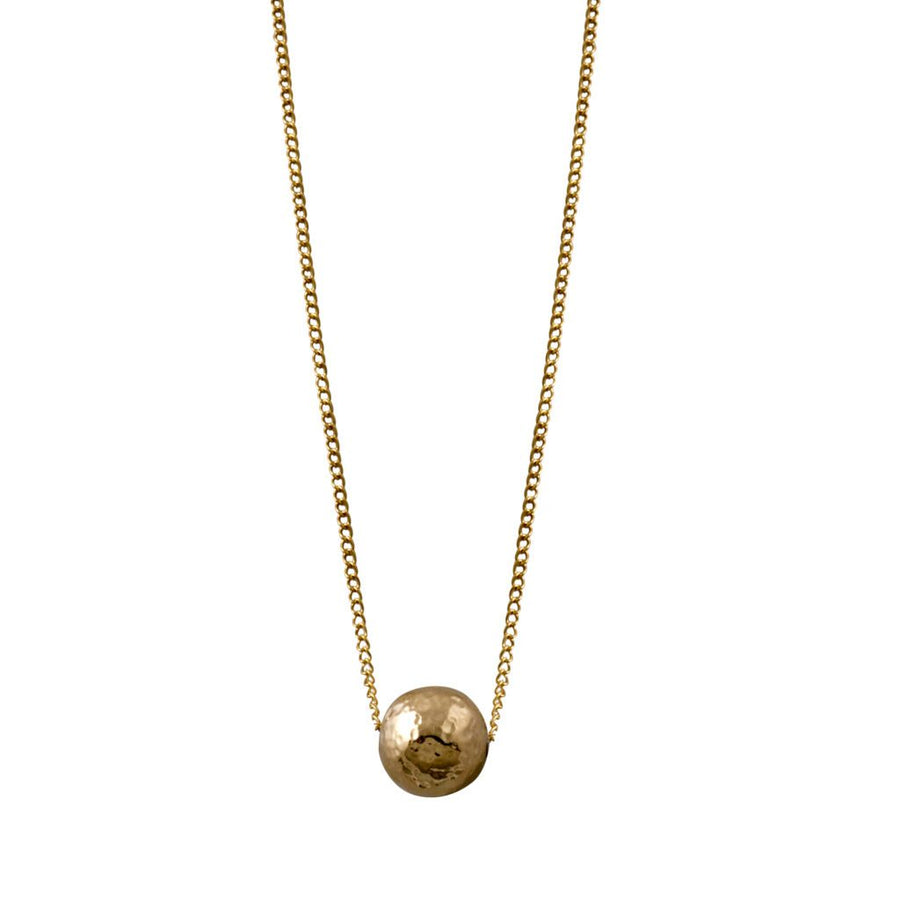 Von Treskow gold hammered ball necklace