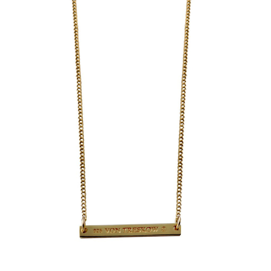 Von Treskow gold bar necklace
