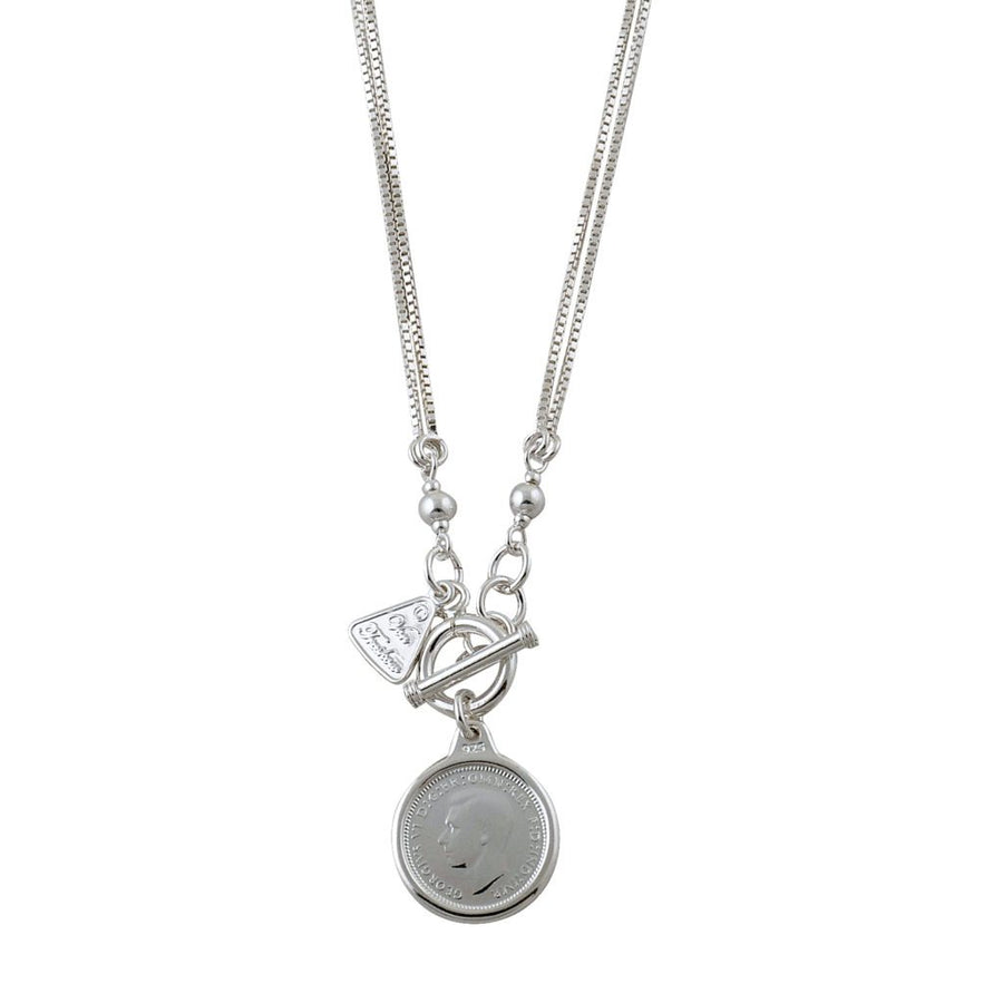 Von Treskow threepence coin necklace