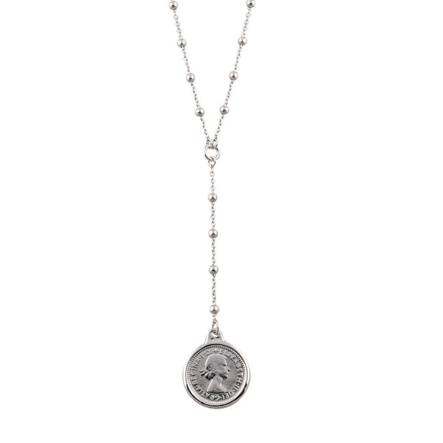 Von Treskow threepence lariat necklace