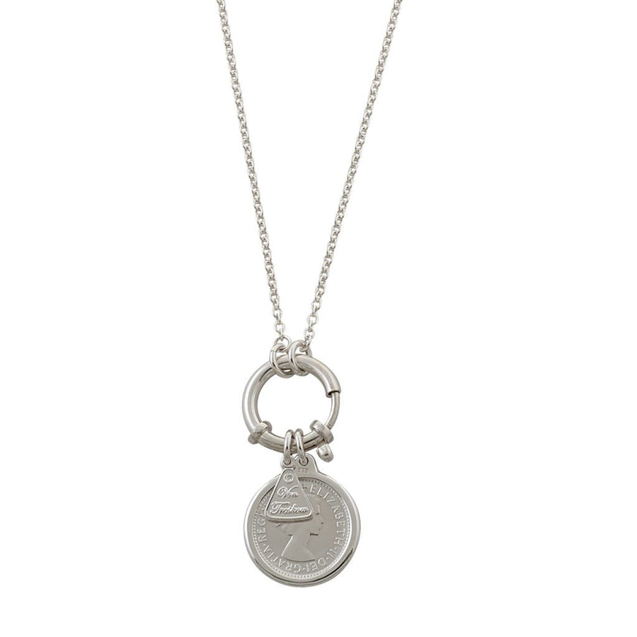 Von Treskow bolt and sixpence necklace