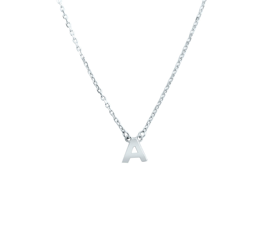 Duo Initial Silver Necklace