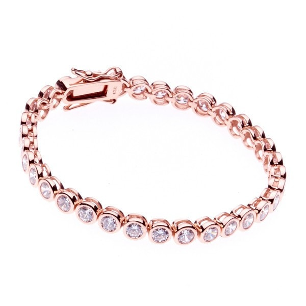 Sybella Rose Gold Medium Tennis Bracelet