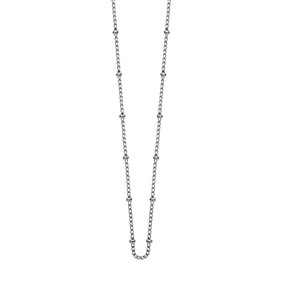 "BESPOKE BALL CHAIN 16-18"" (STERLING-SILVER)"