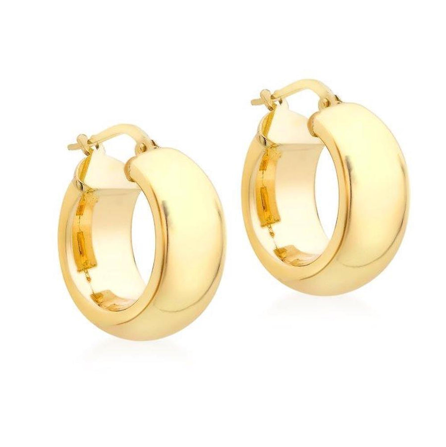 DUO FINE 9 CT YELLOW GOLD 18MM HOOP EARRINGS