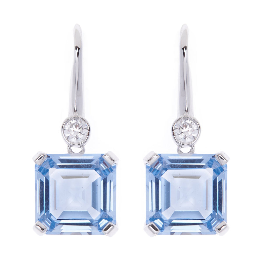Sybella Clear blue earrings