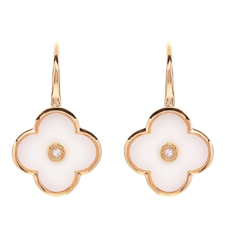 Sybella white ceramic flower earrings