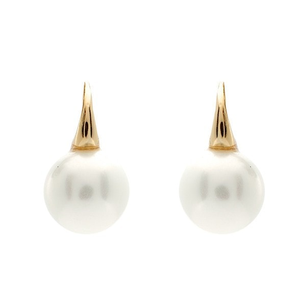 Sybella 12Mm Pearl On Gold Hook Earrings