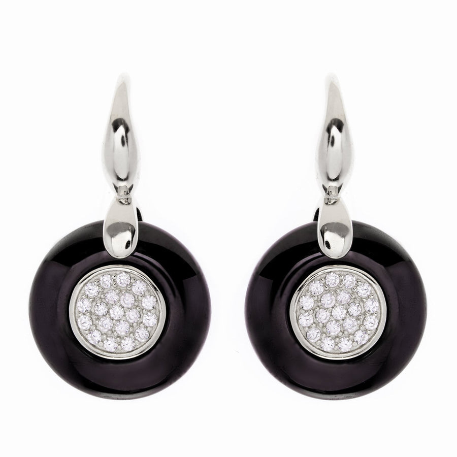 Sybella black ceramic earrings