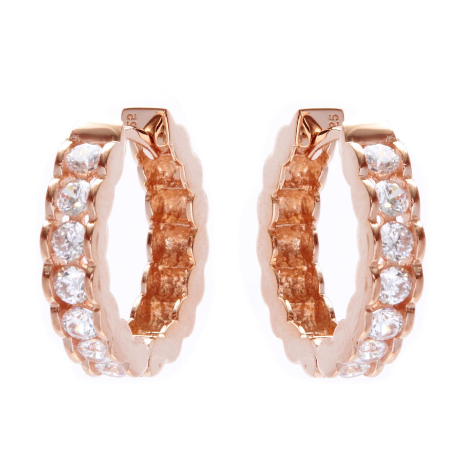 Sybella Rose gold hoops