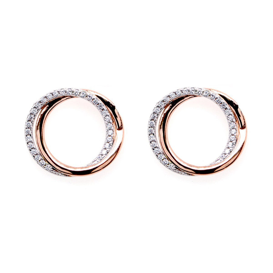 Sybella Two tone Cubic circle earrings