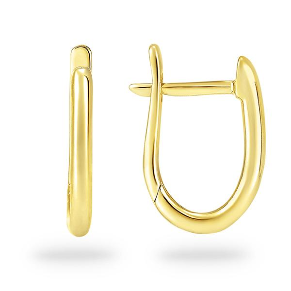 DUO FINE 9CT YELLOW GOLD OVAL EARRINGS
