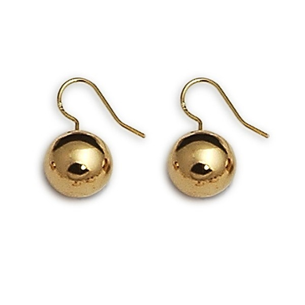 Von Treskow  Gold Ball Earrings