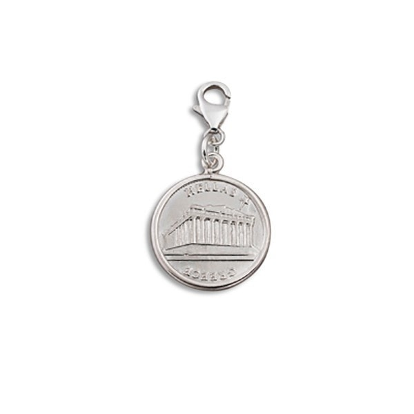 Von Treskow Small Greek Coin  Charm